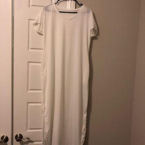 White Maxi Shirt Dress